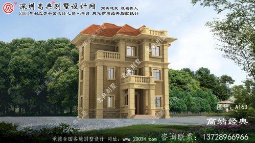 灌南县高档精美二层别墅外观效果图