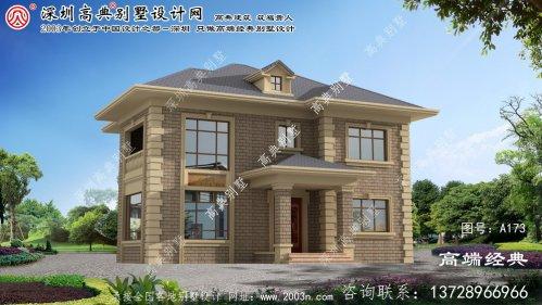 浦口区农村二层房屋设计图