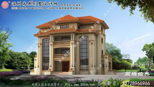 青浦区最新农村别墅设计图