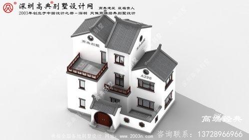 海安县中式别墅外观效果图
