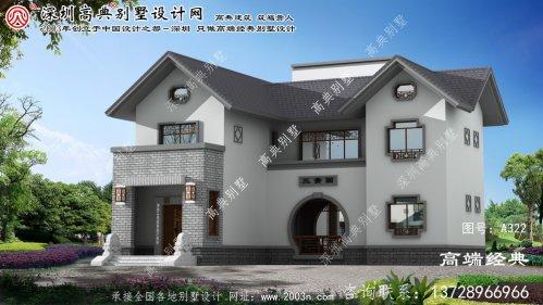 二层别墅外观效果图