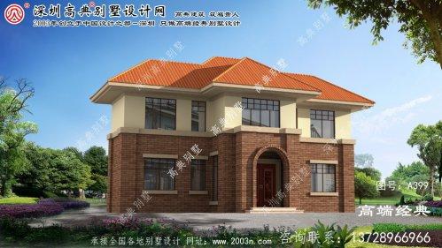 建湖县农村两层楼房设计图