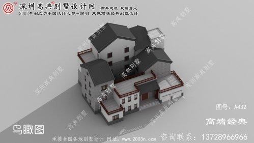 江北区漂亮实用的三层农村小别墅效果图
