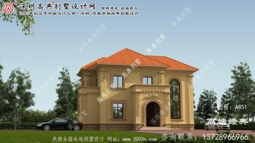 龙文区二层复式别墅外观效果图