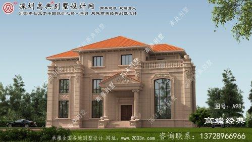 黄岛区三层豪华别墅设计图