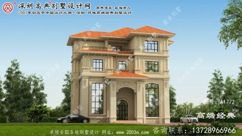 神池县新农村别墅4层设计图