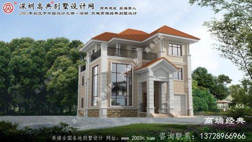 阜新市农村豪华别墅房屋设计图纸