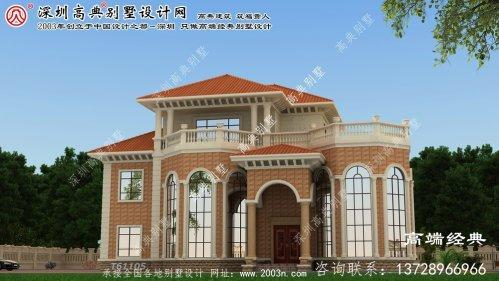 元坝区复式别墅设计平面图