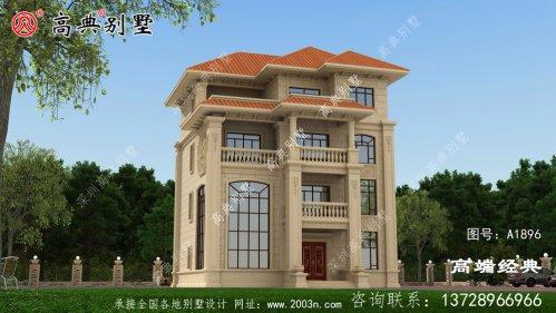 麻栗坡县农村四层别墅设计