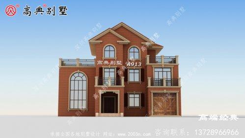 农村别墅两层半图片