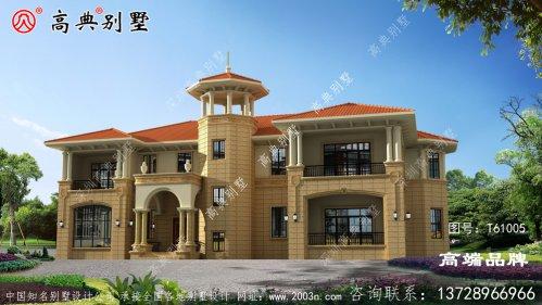 如何设计新农村别墅两层简欧别墅?