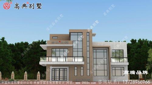自建房农村三层设计图现代风格
