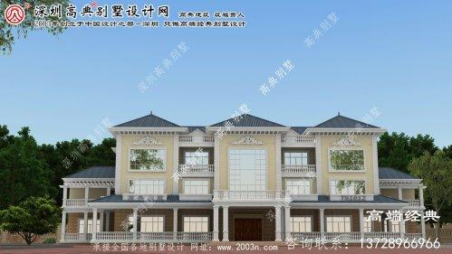 交口县法式三层别墅,精致豪华大气,功能齐全