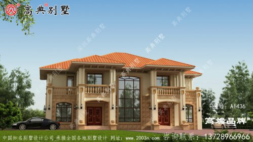 集各种优点于一身的两层双拼别墅户型图