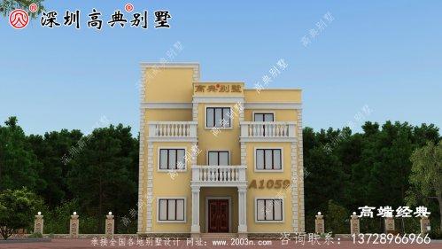 2020年全新农村四层别墅设计图,外观美极了
