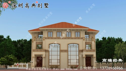 三层别墅设计图和布局图,一砖一瓦都是精品。