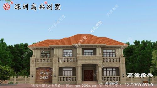 一层半新款农村楼房,看外观就想建,农村养老就靠它