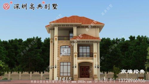 新农村三层房子的照片,精致安全,想在村子里盖房子是幸福的。