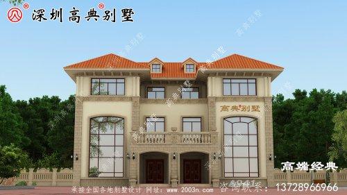 乡村简约普通三层楼的设计图,建好了村里夸好看。