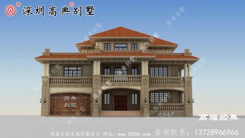 简约大气的三层别墅设计图,看完我也想回家盖房子。