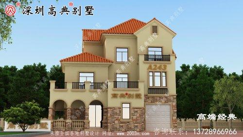 顶层利用露台和阳台来塑造外观的层次感