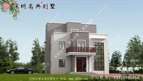 三层小洋楼的照片,光看外观和细节,房子就很受欢迎。